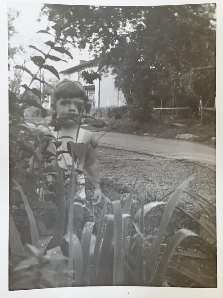 Young Ellen in the garden